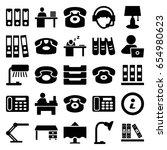 Desk Icons Set. Set Of 25 Desk...