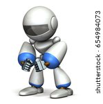 robots endure anger feelings.... | Shutterstock . vector #654984073