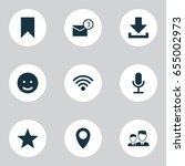 media icons set. collection of... | Shutterstock .eps vector #655002973