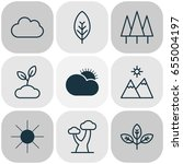 landscape icons set. collection ... | Shutterstock .eps vector #655004197