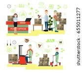 fast delivery concept vector... | Shutterstock .eps vector #655011277
