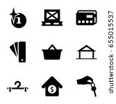 sale icons set. set of 9 sale... | Shutterstock .eps vector #655015537