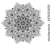 mandalas for coloring book.... | Shutterstock .eps vector #655031833