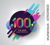 100th years anniversary logo... | Shutterstock .eps vector #655034833