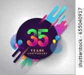 35th years anniversary logo...   Shutterstock .eps vector #655040917