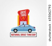 national drive thru day | Shutterstock .eps vector #655062793
