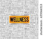 wellness word cloud  fitness ... | Shutterstock .eps vector #655066513