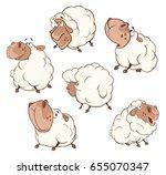 set of vector cartoon...   Shutterstock .eps vector #655070347