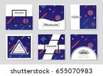 abstract vector layout... | Shutterstock .eps vector #655070983