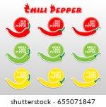 chili pepper icon vector | Shutterstock .eps vector #655071847