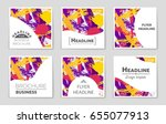 abstract vector layout...   Shutterstock .eps vector #655077913