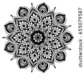 mandalas for coloring book.... | Shutterstock .eps vector #655079587