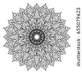mandalas for coloring book.... | Shutterstock .eps vector #655079623
