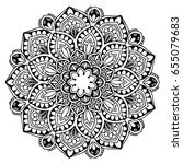 mandalas for coloring book.... | Shutterstock .eps vector #655079683