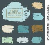 grunge brush stroke background... | Shutterstock .eps vector #655082383