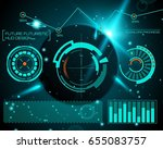 abstract future  concept vector ... | Shutterstock .eps vector #655083757
