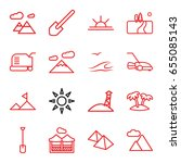 landscape icons set. set of 16... | Shutterstock .eps vector #655085143