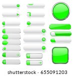 white and green menu buttons.... | Shutterstock . vector #655091203