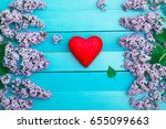red heart against the... | Shutterstock . vector #655099663