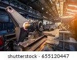 giant steel component in... | Shutterstock . vector #655120447