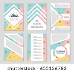 abstract vector layout... | Shutterstock .eps vector #655126783