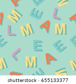 pattern with colorful letters | Shutterstock .eps vector #655133377