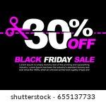 30  off black friday sale ... | Shutterstock .eps vector #655137733
