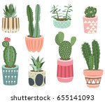 cactus collections  | Shutterstock .eps vector #655141093