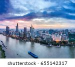 ho chi minh city  aerial view   ... | Shutterstock . vector #655142317