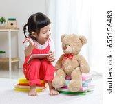lovely laughing little child ...   Shutterstock . vector #655156483