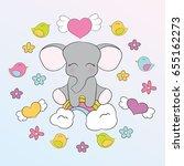 children's illustration with... | Shutterstock .eps vector #655162273