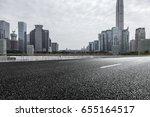 empty downtown street... | Shutterstock . vector #655164517