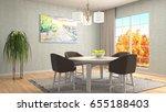 interior dining area. 3d... | Shutterstock . vector #655188403