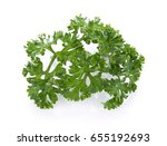 parsley isolated on a white... | Shutterstock . vector #655192693