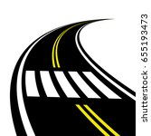 3d crosswalk on the road... | Shutterstock .eps vector #655193473