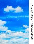 blue sky with cloud closeup | Shutterstock . vector #655197217