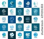 vector logo globe | Shutterstock .eps vector #655201303