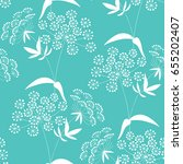 seamless pattern with floral... | Shutterstock .eps vector #655202407