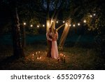 Night Wedding Ceremony. The...