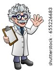 a generic cartoon scientist... | Shutterstock .eps vector #655226683