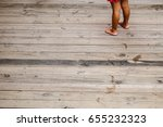 little girl and her footprint... | Shutterstock . vector #655232323