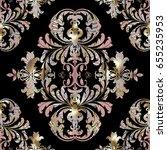 floral damask vector seamless...   Shutterstock .eps vector #655235953