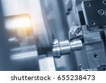 the cnc lathe machine or... | Shutterstock . vector #655238473
