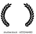 laurel wreath | Shutterstock . vector #655246483