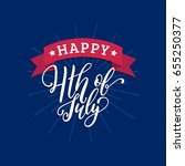 happy fourth of july... | Shutterstock .eps vector #655250377