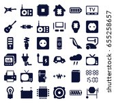 electrical icons set. set of 36 ... | Shutterstock .eps vector #655258657