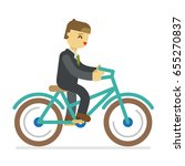 bicycle sport business man... | Shutterstock .eps vector #655270837