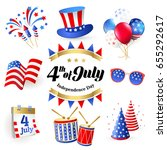 4th july   independence day of... | Shutterstock .eps vector #655292617