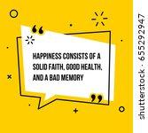 vector quote. happiness... | Shutterstock .eps vector #655292947