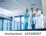 medical team discussing over... | Shutterstock . vector #655308307